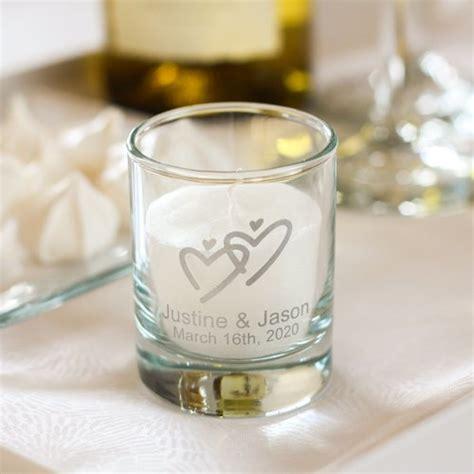 Personalized Wedding Votive Candle Holders