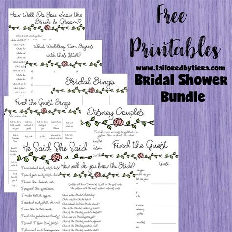 best 25 printable bridal shower games ideas on pinterest