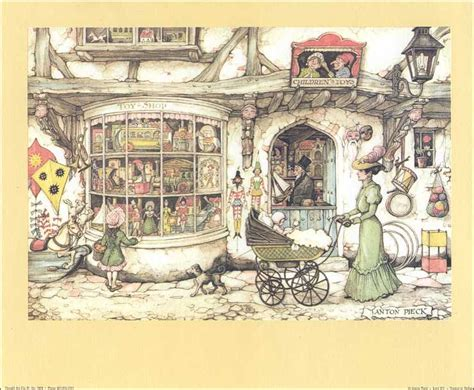 3d Decoupage Prints - anton pieck the shop paper tole 3d kit size 8x10 7804