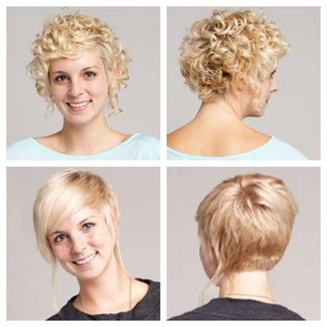 Short Bob Curly Back Straight Front | short curly hair stacked in back longer in front long
