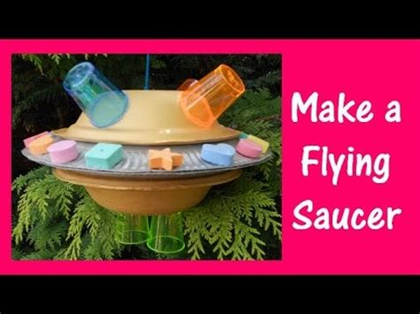 How To Make A Flying Saucer Out Of Paper - arts and crafts how to make a flying saucer