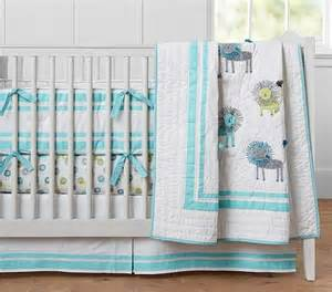 blue and yellow nursery bedding