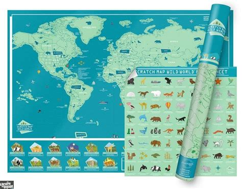 Luckies Scratch Map La Carte Du Monde 224 Gratter