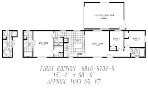 16 x60 mobile home floor plans http www