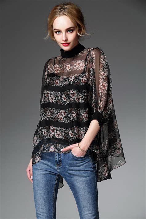Bigsize Blouse Sb002 2016 europe summer printing shirts big size chiffon blouse lace shirts