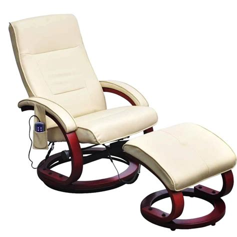 electric massage recliner chair cream white electric tv recliner massage chair with