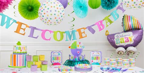 Baby Shower City by Pastel Rainbow Chevron Welcome Baby Supplies