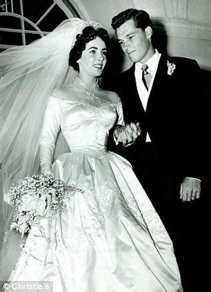 elizabeth taylor's first wedding dress smashes £50,000