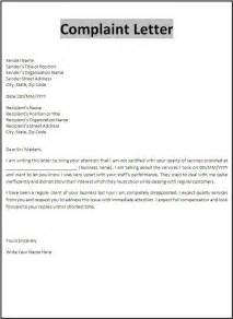 complaint letter exle custom college papers