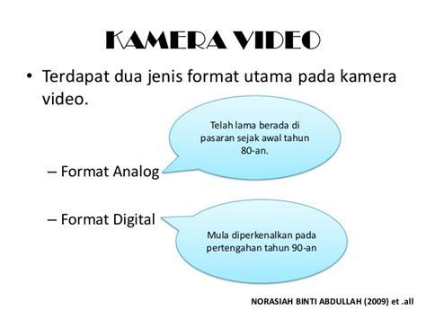 format video analog adalah penerbitan video dalam pendidikan edu 3105