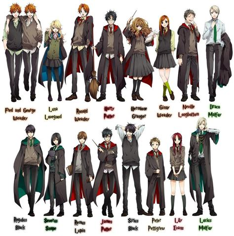 D Anime List by Potter Characters Harry Potter Anime 24126108 1291 By