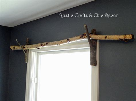 how to make homemade curtain rods diy curtain rods rustic crafts chic decor