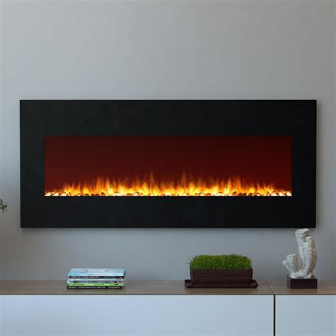 electric in wall fireplace moda oxford 50 in wall mounted electric fireplace