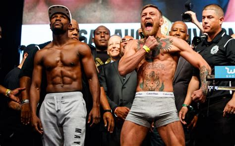 mcgregor tattoo weigh in floyd mayweather vs conor mcgregor boxer s savvy ring