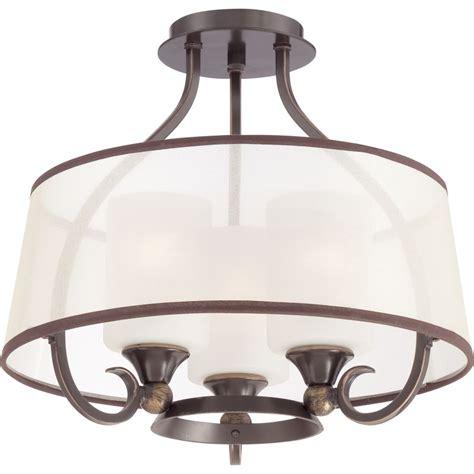 Ambient Lighting Fixtures Quoizel Plr1716pn Palladian Bronze Palmer 3 Light 16 Quot Wide Semi Flush Ceiling Fixture