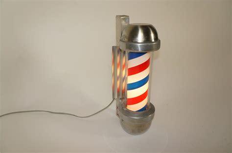 Barber Shop Light Fixtures 1950s Marvy Rotating Light Up Chrome Barber Shop Pole Light 184651