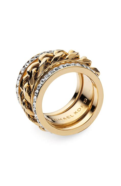 Michael Kors Ring by Michael Michael Kors Michael Kors Stack Ring In Gold Lyst