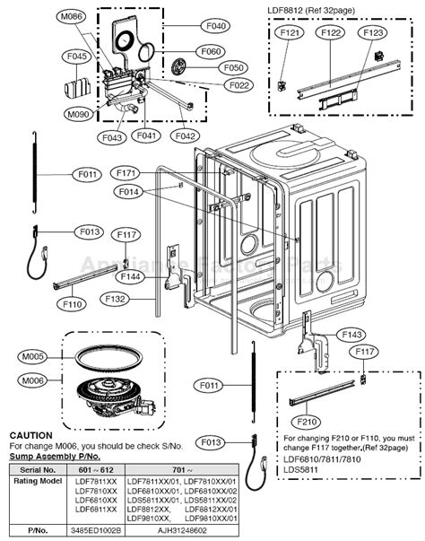 lg dishwasher parts diagram parts for ldf6810st lg dishwashers