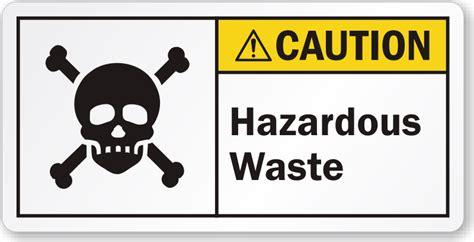 fluorescent l disposal waste management hazardous waste ansi caution label with poison symbol sku
