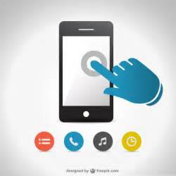 smartphone touch screen vector free vector free download