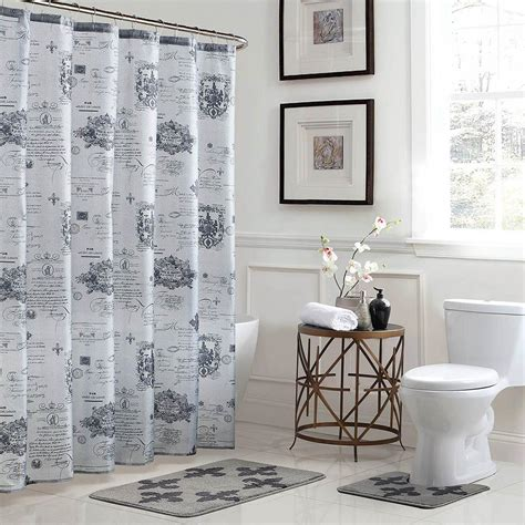 30 x 72 bath rug bath fusion fleur de lis 18 in x 30 in bath rug and 72 in x 72 in shower curtain 15