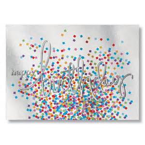 company birthday cards confetti reflections business birthday cards