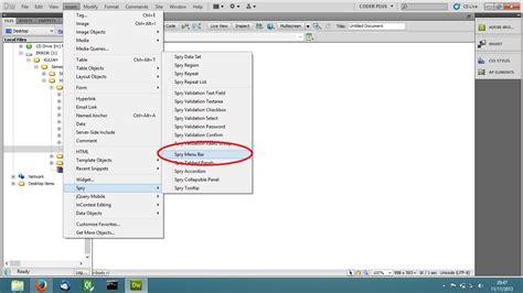 tutorial membuat menu dropdown di dreamweaver brustlinker cara mudah membuat menu dropdown dengan
