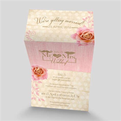 Hochzeitseinladung Romantisch by Leporello Hochzeitseinladung Romantik