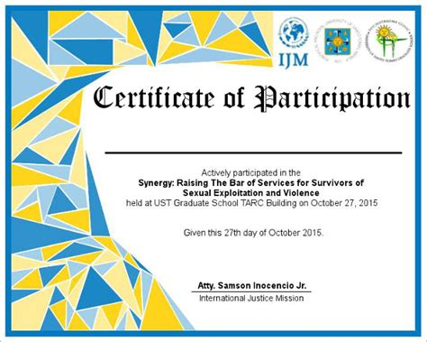 free templates for certificates of participation participation certificate templates free premium