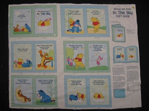 Selimut Soft Panel Winnie The Pooh winnie the pooh tigger piglet eeyore sky baby soft book fabric panel to sew