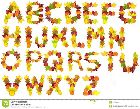 printable leaves with letters autumn leaf alphabet