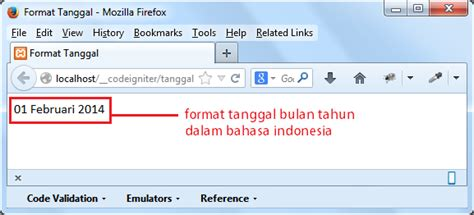 video tutorial codeigniter bahasa indonesia membuat tanggal indonesia di codeigniter
