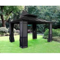 10x12 Gazebo Canopy by Sunjoy Eureka Gazebo 10 X 12 Outdoor Living Gazebos