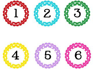 printable numbers on circles technology rocks seriously round polka dot numbers