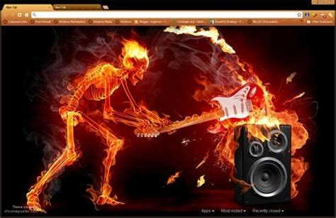 themes for google music fiery music chrome web store