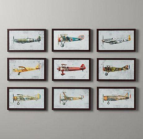 vintage prop plane wall restoration hardware