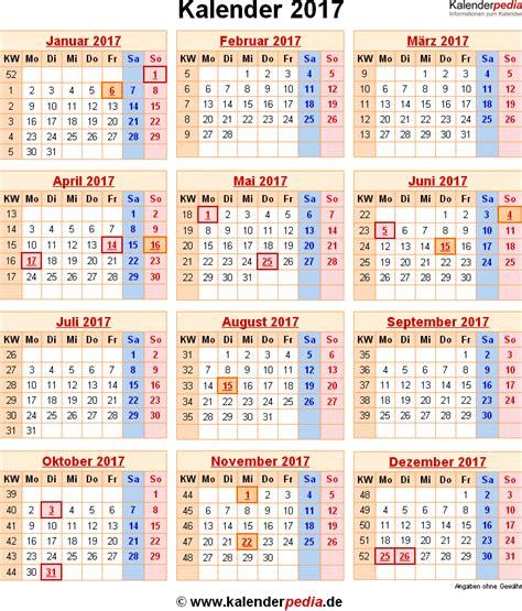 Jahreskalender Mit Kw Kalender Mit Kalenderwochen 2017 Kalender 2017