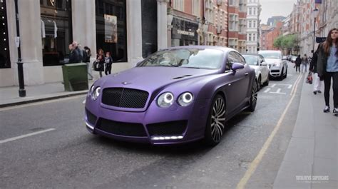 Matte Purple Mansory Bentley Continental Gt In