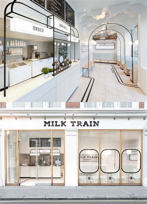 formroom  milk train ice cream shop interior design
