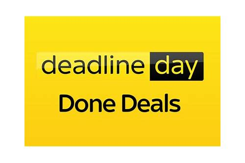 deadline day deals