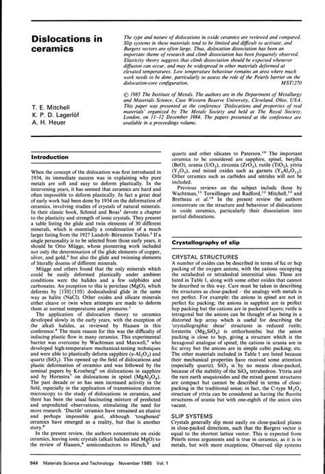 pdf dislocations in ceramics - Dislocations In Ceramics