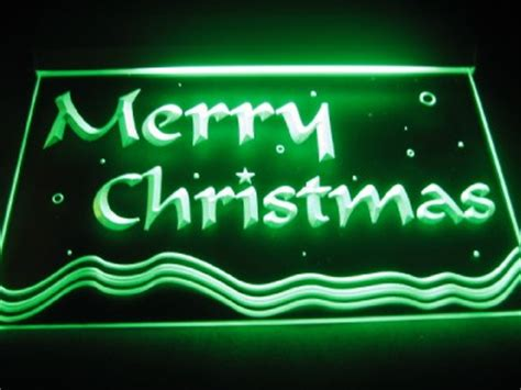 merry christmas light signs merry logo bar pub store neon light sign neon b551 ebay