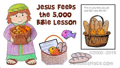 jesus feeds the 5000 clipart collection