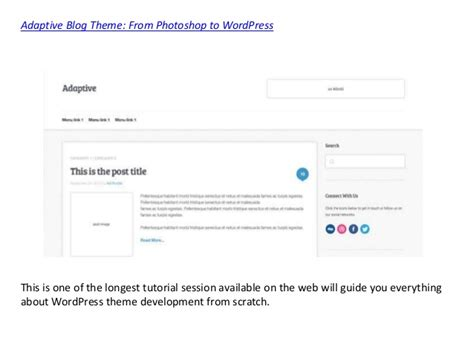 wordpress tutorial for developers few theme development tutorials for wordpress