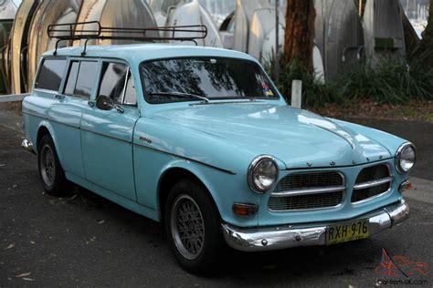 1963 volvo 122 wagon 122s original light blue vw