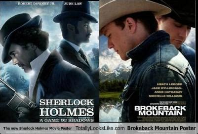 film cowboy mountain the new sherlock holmes movie poster totally looks like