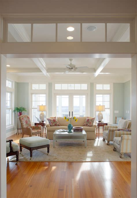 beach style living room 7 reasons why you should trim your home with white
