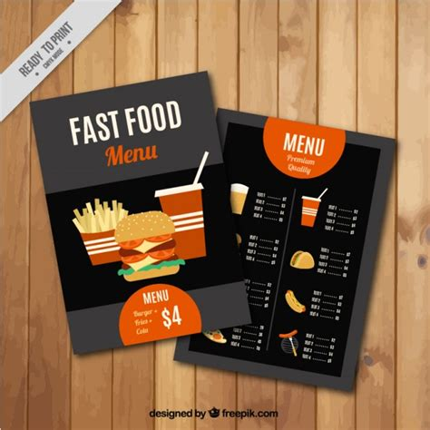fast template fast food menu template vector free