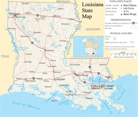louisiana map usa united states map louisiana bnhspine