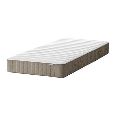 HAMARVIK Sprung mattress Medium firm/dark beige Standard
